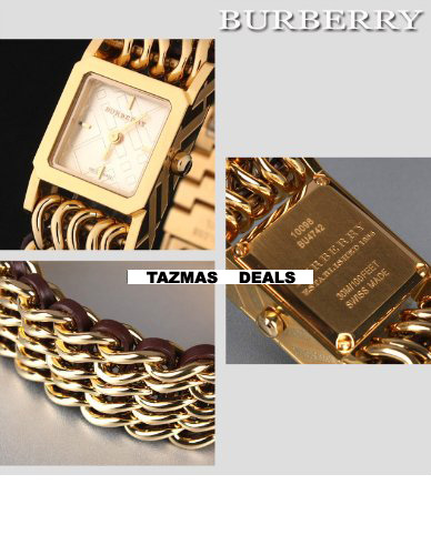 100% Authentic Burberry Womens Chain WATCH BU4742